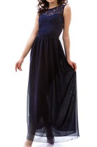 Bridesmaid Navy Blue Long Formal Occasion The Navy Blue Chiffon Dress