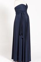 Navy Blue Infinity Long Maternity Dress