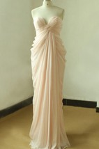 Sweetheart Chiffon Dress with Draping