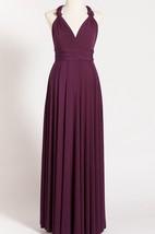Purple Maternity Infinity Long Dress