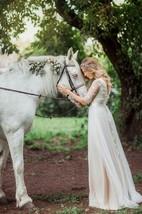 A-Line Tulle Lace Organza Satin Weddig Dress