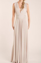 Nude Simple Long Infinity Dress
