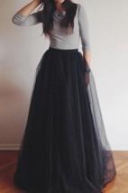 Floor-length Tulle&Organza Dress
