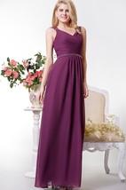 Graceful Chiffon Long Formal Dress with Beaded Waist