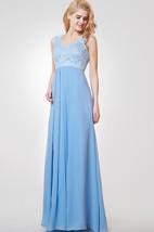 A-line Long Lace and Chiffon Bridesmaid Dress