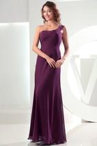 Simple Sleeveless Chiffon Floor-Length Dress With Single Strap
