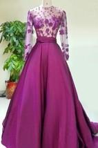 Gorgeous Long Sleeve 2016 Evening Dress Appliques Beadings