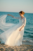 White Wedding Tulle Wedding Classic White Wedding Lace Wedding Dress