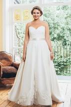 A-Line Long Sweetheart Sleeveless Satin  Dress