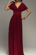 Burgundy Infinity Bridesmaid Wrap Convertible Wedding Dress