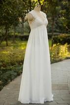 Cap Sleeve Chiffon Lace Weddig Dress