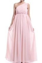 Empire One-shoulder Pink Chiffon Dress