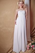 Stunning Floral Bodice Matte Jersey Wedding Gown