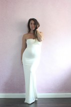 Pencil Floor-Length Sweetheart Maternity Dress