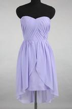 High-low Sweetheart Chiffon Dress