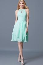 Halter Short Empire Chiffon Bridesmaid Dress With Ruffles