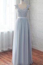 Chiffon Dress With Beading&Sequins