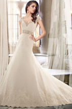 Sweetheart Lace and Tulle Wedding Dress with Removable Straps
