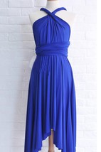 Infinity Royal Blue Knee Length Wrap Convertible Dress