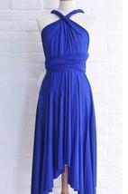 Infinity Royal Blue Knee Length Wrap Convertible Dress
