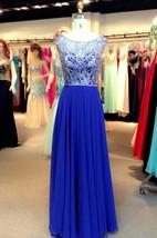 A-Line Princess Short Sleeves Bateau Floor-Length Chiffon Sequins Dresses