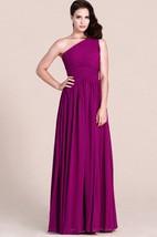 One-shoulder Empire Long Chiffon Bridesmaid Dress