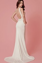 Classic Sleek Jersey Dress With Intricate Beading