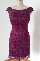 Mini Cap Sleeve Lace Dress With Low-V Back
