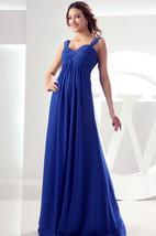 Sleeveless Chiffon Empire Floor-Length Dress Criss-Cross Ruching