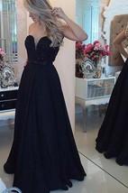 Sexy Chiffon Black A-line Prom Dress 2016 Zipper Button Back