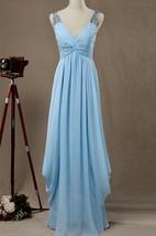 Maxi V-neck Chiffon&Satin Dress