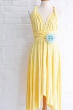 Infinity Sunshine Yellow Knee Length Wrap Convertible Dress