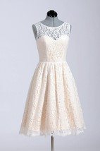 Cute Short A-Line Lace Wedding Dress Simple Style