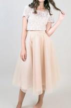 Knee-length Tea-length Tulle Dress