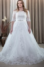 Ball Gown Tulle Lace Dress With Appliques Lace-Up Back