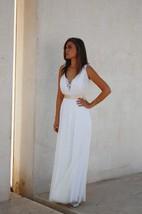 V-Neck Deep-V Back Anckle-Length Satin Wedding Dress With Sash And Appliques
