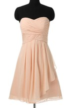 A-line Mini Strapped Sweetheart Chiffon Dress