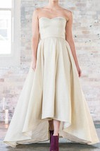 Shimmering Gold High Low Wedding 34 Inch Bust Dress