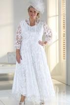 A-Line Ankle-Length Scoop Neck Satin Lace Zipper Appliques Dress