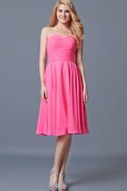 Vibrant Sleeveless Pleated Knee-length Chiffon Dress With Backless
