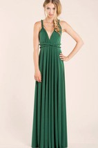 Floor-length Jersey&Satin Dress