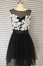 Mini Tulle Illusion Dress With Lace