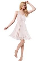 V Neck Chiffon Short Bridesmaid Dress