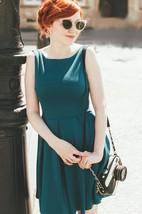 Tea-length Dress With Pleats&Bow