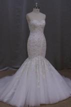 Sweetheart Heavy Beaded Mermaid Wedding Dress With Lace-Up Back
