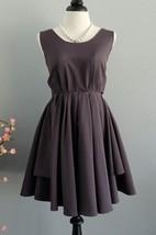 Short Backless Dress With Low-V Back