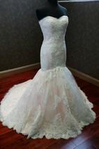 Custom Made Beautiful Mermaid Wedding Dress With Appliques
