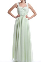 Floor-length Strapped Sweetheart Chiffon Dress