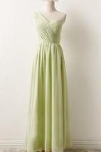 Floor-length One-shoulder Chiffon Dress