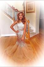 Glamorous Sleeveless Crystal Evening Dresses 2016 Long Mermaid Tulle Party Dress